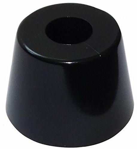 AERZETIX: 4 x Patas pies muebles PVC A: 20mm Ø28mm,negro