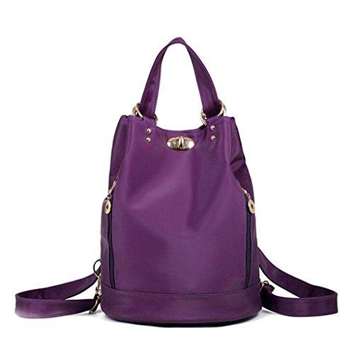 ZY&F Rucksack wasserdicht Nylon Ms. Taschen Tuch Reisetasche Ms. Kosmetikum Umhängetasche schwarz lila grau Purple