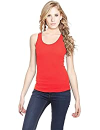 LOOK & SHOP Cotton Rib Fabric Spaghetti/Camisole for Women's and Girl's.