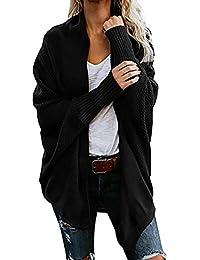 ¡Gran promoción!★Rovinci★Suéter de Las Mujeres Invierno Casual Sólido Cálido Cómodo con Cuello En V de Punto Suelta Manga Larga Cardigan Pullover Tops Outwear