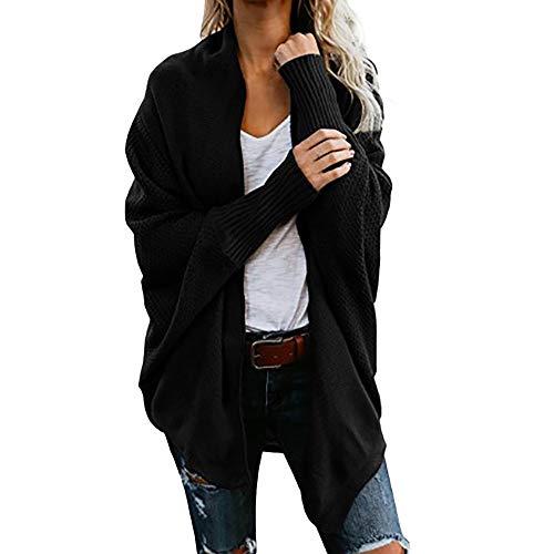 iHENGH Damen Winter Warm Bequem Mantel Lässig Mode Frauen Womens aus der Schulter Pullover lässig gestrickte lose Lange Ärmel Jacke ()