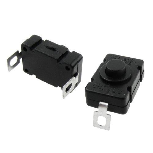 sourcingmap® 20 Stk Rechteckige Hemmung Aktion Druckschalter für Elektronische Taschenlampe