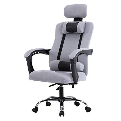 BEANFAN Stühle Büro Chefsessel Ergonomische Aufgabe Computer Gaming Mesh Einstellbare Liegende Klapparme Schwenkbare Unterstützung Kopfstütze Lendenwirbel, 52x53x45-53cm