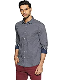John Miller Men's Printed Slim Fit Cotton Casual Shirt