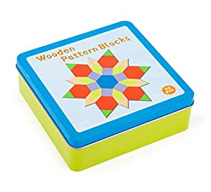 small foot company- Juego de colocación Tangram, en Caja de hojalata,Incl 16 Variantes de construcción para una diversión de puzles sin Fin Juguetes, (11357)