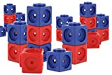 Unbekannt DICK System Riesensteckwürfel-Set magnetisch, 40 Stück, rot-blau