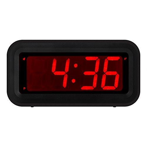kwanwa Schreibtisch/Nachttisch/Wand Digital LED Alarm Uhr mit Big 3 cm LED Time Display, AA Batterie betrieben nur, kann überall platziert werden ohne ein umständlicher Kordel,...