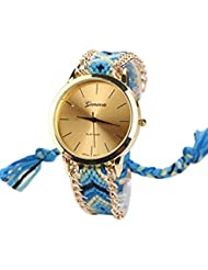 Reloj - GENEVA Reloj de pulsera de cadena trenzada de mujer (Modelo 5)