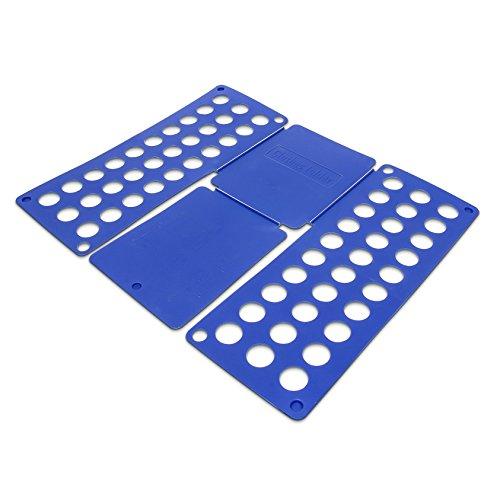 Relaxdays Faltbrett für Wäsche HBT ca. 0,5 x 70,5 x 59 cm große Falthilfe mit Falt Butler T-Shirts oder Pullover auf DIN A4 falten platzsparender Wäschefalter Hemdenfalter aus Kunststoff, blau