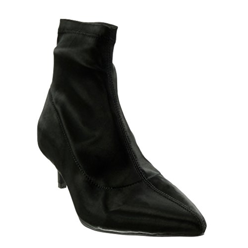 Angkorly - damen Schuhe Stiefeletten - Flexible Stiletto high heel 5 CM Schwarz