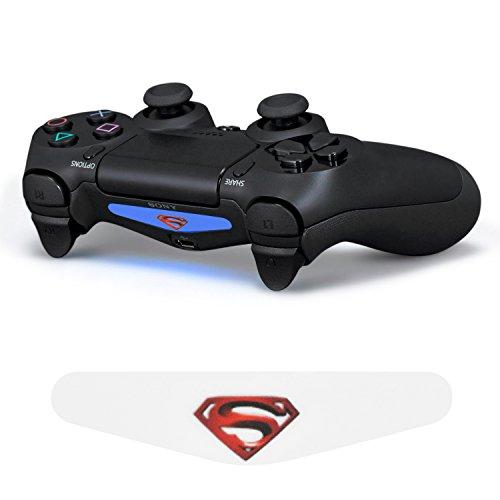 iprotect LED Light Bar LED Sticker für Playstation 4 Controller DualShock 4 Superman 2 (Ps4 Controller Light Bar Superman)