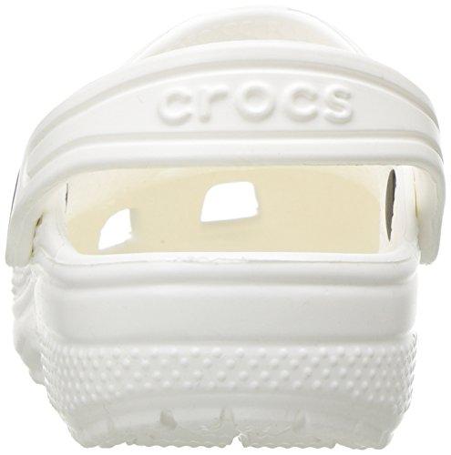 Crocs Classicclogk, Zoccoli Unisex – Bambini Bianco (White)