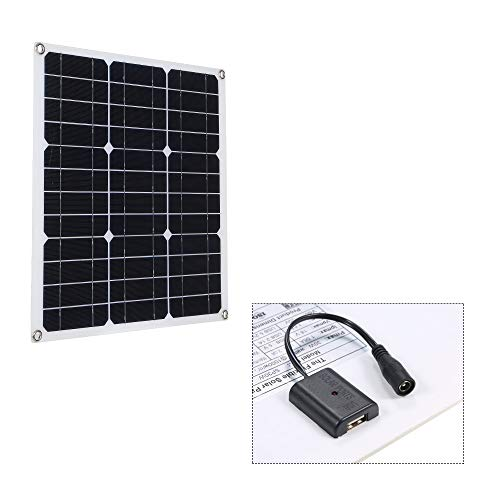 Caracteristicas: Suministro de energía por energía solar, que es limpia, sin fin y ecológica. Sin consumo de energía adicional, 0 factura de electricidad al año. Panel solar monocristalino y película de PET respetuosa con el medio ambiente, mucho tie...