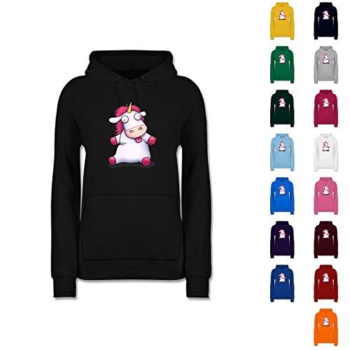 Comic-Shirts-Einhorn-Agnes-so-flauschig-Fluffy-Unicorn-Damen-Premium-Kapuzenpullover-Hoodie