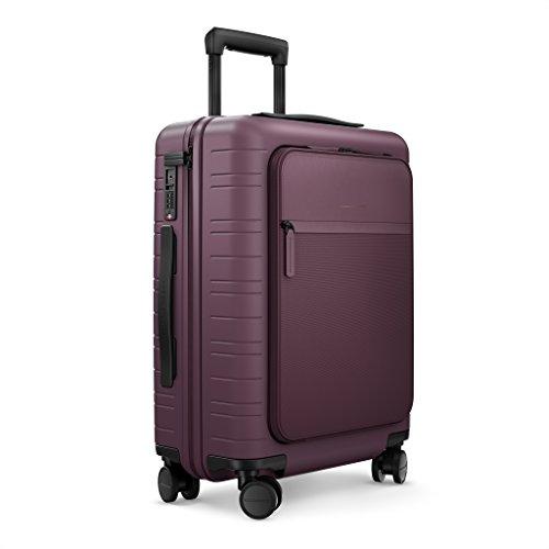 Horizn Studios equipaje de mano | Trolley de cabina Model M | 55 cm, 33 L, Trolley rígido de policarbonato con 4 ruedas, super ligero (Marsala)