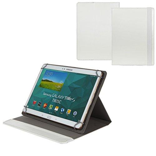 BRALEXX Universal 10 Zoll Tablet Tasche passend für Blaupunkt ENDEAVOUR 1000 QC, Weiß