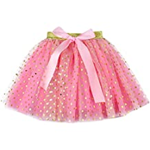 81b820fef Falda de Niña,Niña Enagua Paillette Star Tul Pettiskirt Bowknot Falda Tutu  Dancewear,Hanomes