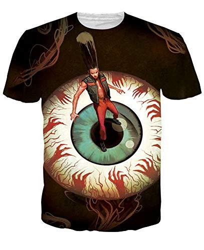 CYYCY T-Shirt Casual a Maniche Corte Estiva Stampata Unisex,T-Shirt a Maniche Corte Dipinta 3D 7 L