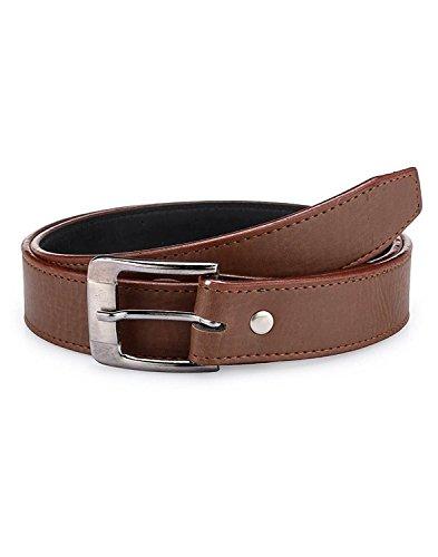 Krystle Boy's PU Leather Belt (KRY-BOY-BRN1-BELT, Brown, Free Size)