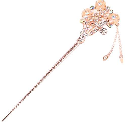 Populaire épingle cheveux Ornements Barrette Chapeaux épingle Crown Beige