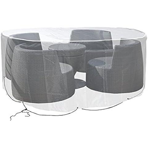 Grandes de muebles de jardín, Impermeable Carcasa Diámetro 160cm redondo transparente p de 589
