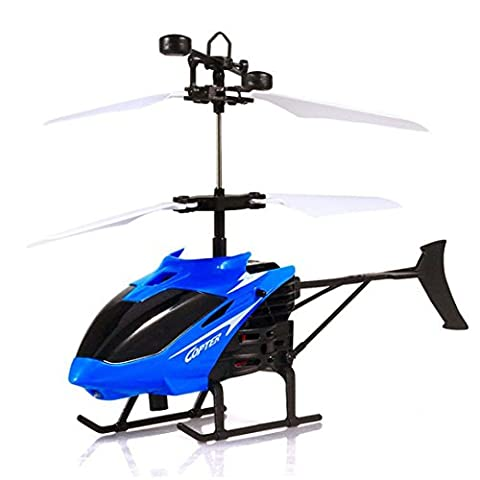 Flight Toys, Bestow Mini Flying Airplanes RC Infraed Induction Remote Control Helicopter USB Charging Flashing Light Toys For Kid and Adults Gifts (Blue