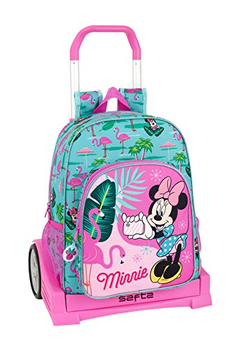 Minnie Mouse Palms Ufficiale Zaino Schienale Ergonomico con Carrello Safta Evolution