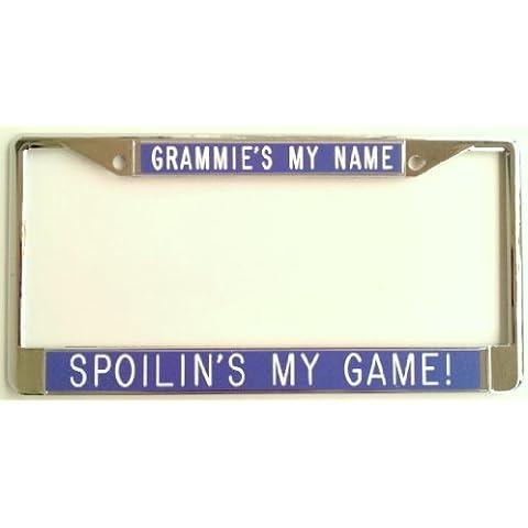 Grammie del mio nome Spoilin del mio gioco. purple-license Piastra Frame - Mothers Day Piastra