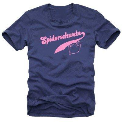 Coole Fun T-Shirts Spiderschwein T-SHIRT HOMER - SPRINGFIELD, navy/rosa, Grösse: L (T-shirt 2008 Rosa Damen)