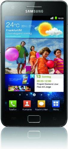 Samsung Galaxy S II (i9100) DualCore Smartphone (10.9 cm (4.3 Zoll) Super-Amoled Plus Display, Android 2.3, 8 MP Full-HD Kamera, 2 MP Frontkamera) [EU-Version] schwarz (Samsung 2 Handy Galaxy)