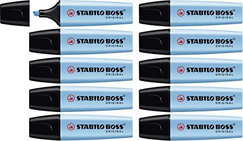 Stabilo boss original evidenziatore colore azzurro - confezione da 10