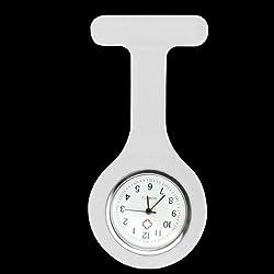 BargainUniverse® Nurses White Gel Silicone Plastic Fob Watch