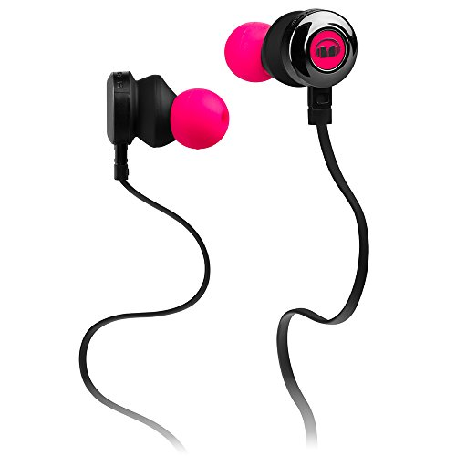 Monster Clarity HD in-Ear Headphones, Neon Pink