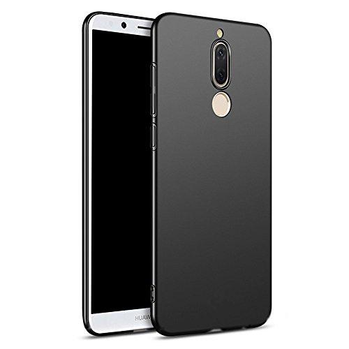 Schwarz Dünn Weich TPU Silikon Hülle Schutzhülle Slim Case + Displayschutzfolie für Huawei Mate 10 Lite Vooway® MS50022