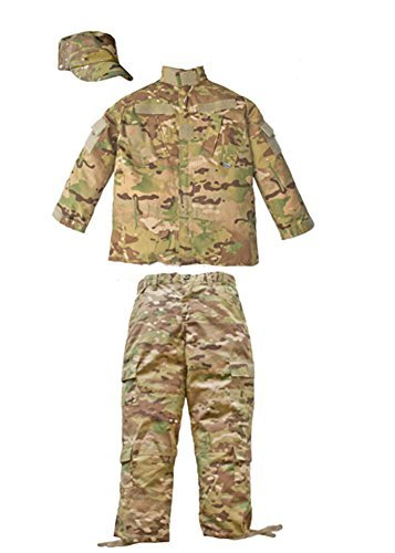 Trooper Clothing Combat 3 Piece Trooper Set w/10 Pockets, Extra Large, Multi Color Camo, X-Large by Trooper Clothing