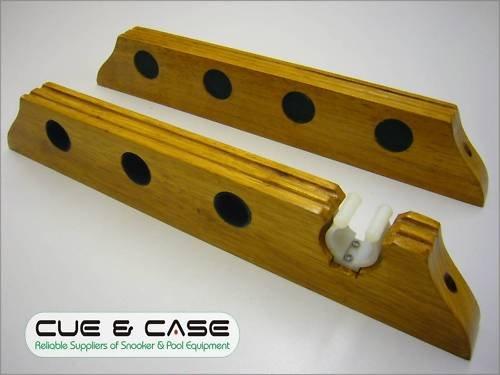 Montaggio a parete 4WAY Oak snooker stecca rack con resto clip - Rack Oak 8 Stecca