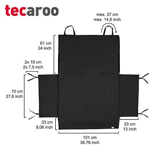 TECAROO couverture pour coffre avec protection latérale en noir | avec 2 ans de garantie satisfaction | couverture de protection pour coffre, couverture protège-coffre, matelas de coffre