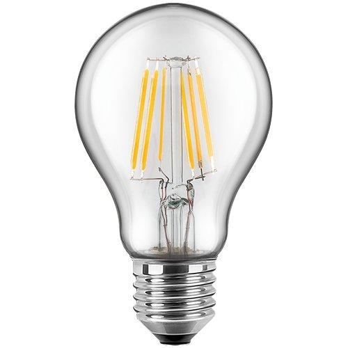 Blulaxa LED Filament Glühfaden Lampe Birnenform RETRO klar, 300°, E27, warmweiß, Glas, 8W EEK: A++