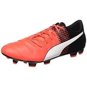 Puma Evopower 4 3 FG, Chaussures de Football Amricain Homme, Neonrot/Schwarz
