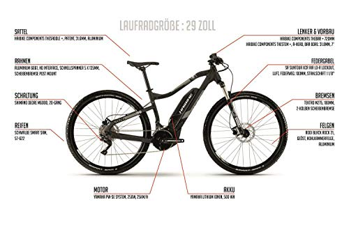 29 Zoll Haibike Sduro HardNine 3.0 E-Bike Elektro Fahrrad Pedelec 500Wh Shimano 20 Gang Gr.M