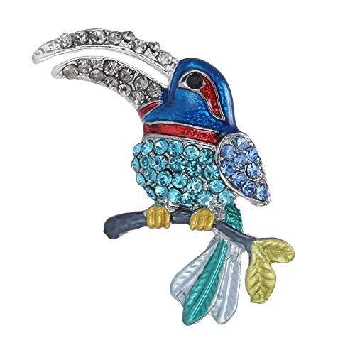FGTYJ 5 Farbe Toucan Vogel Brosche Pins Tier Broschen Für Frauen Hochzeit Dekoration Kostüm Jewelry28 * - Toucan Kostüm