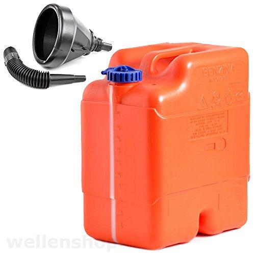 wellenshop 23 Liter Kraftstofftank Bootstank Reservefunktion + Einfülltrichter