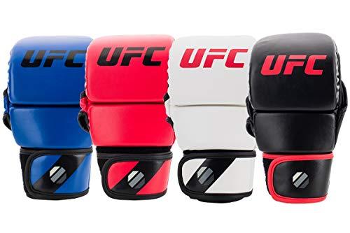 Muay Thai Guanti Master MMA Brace Guanti UFC in Pelle More Padding for Men Donna Protezione Polso Knuckle Arti Marziali Miste Kickboxing Guanti Sparring Fingerless per Allenamento