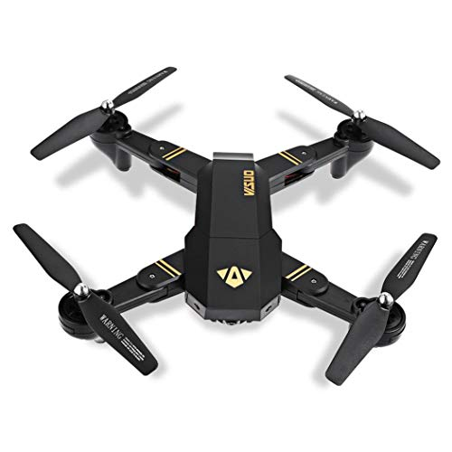 TALREJA ENTERPRISES Visuo WiFi Camera Drone, Altitude Hold and Foldable Feature, USB Charger and RC (Black)