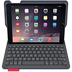 Logitech 920-006581 iPadAir2 Étui Clavier | Type + avec Clavier sans fil et Bluetooth (Clavier Française AZERTY, Noir)
