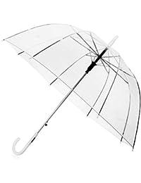 Paraguas transparente,Paraguas Transparente Mujer,compacto liviano Fácil de llevar,Paraguas transparente automático,paraguas con botón automático,paraguas largo,PVC a prueba de agua
