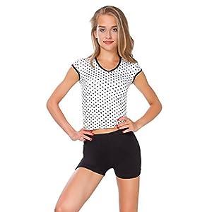 FUTURO FASHION Super weiche Baumwoll-Shorts, elastisch, Stretch, Yoga-Unterhose, Größe 36-22 PSL5