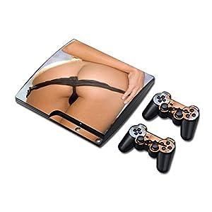 Sony PS3 Playstation 3 Slim Skin Design Foils Aufkleber Schutzfolie Set – Ass Motiv