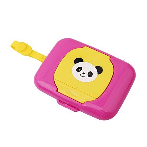 HENGSONG Niedlich Panda Muster Baby Kinder Outdoor Reisen Feuchttücher Box Feuchttuchbox für Kinderwagen Babybett