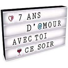 D.KO K.DO Boite Lumineuse à Message A3 + 85 Lettres, ABS + PVC, Noir, 43 x 7 x 32 cm